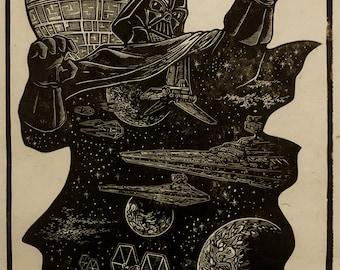 Vader Block Print