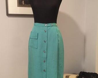 1950's Mint/Seafoam Green Pencil Skirt