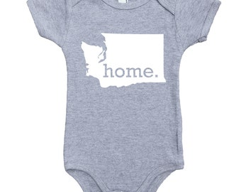 Homeland Tees Washington Home Unisex Baby Bodysuit
