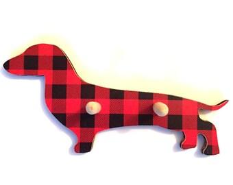 Daschund Sausage Dog Lead / Coat / Key Hanger