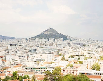 "Greece Print, Greece Photography, Athens Greece, City Prints, City Wall Art, City Art Print, Living Room Decor, City Skyline, ""Athens City"""