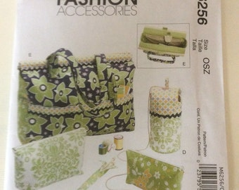 McCall's 6256 knitting Tote and accessories pattern - UNCUT