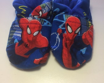 Spider-Man Baby Booties One Size Fits Most 0-18 months
