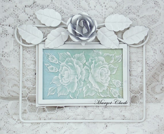 Fused Glass Textured Framed Roses