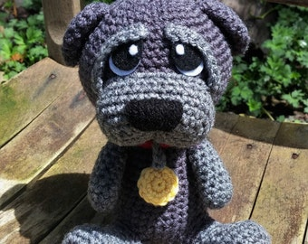 Rocky the Service Puppy Amigurumi Dog pattern. PDF file only doll not included.