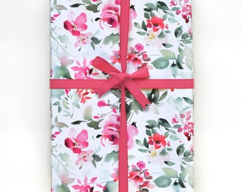 Winter Flora Gift Wrapping Sheets - White (3)