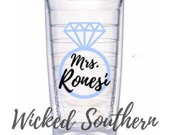 Mrs. Tervis Tumbler- Great Wedding or Bridal Shower Gift