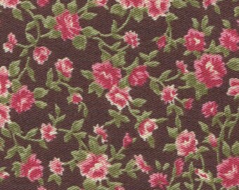 Brown and Pink Antique Flower Fabric Sticker Sheet - Dailylike