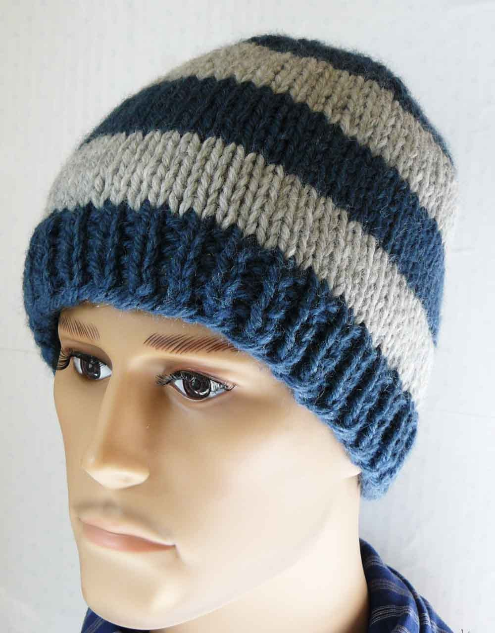 Knitting pattern knit beanie pattern mens knit hats patterns this is a digital file bankloansurffo Gallery