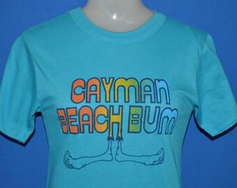 70s Cayman Islands Beach Bum Rainbow t-shirt Extra Small