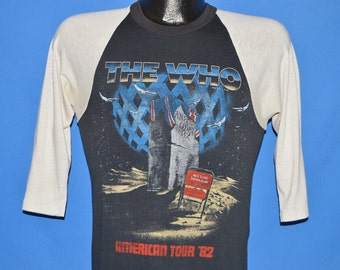 80s The Who American Tour 1982 t-shirt Small