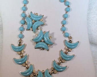 Blue Kramer Necklace and Earrings