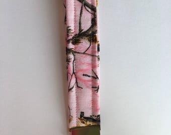 Key Fob Wristlet Pink Camouflage