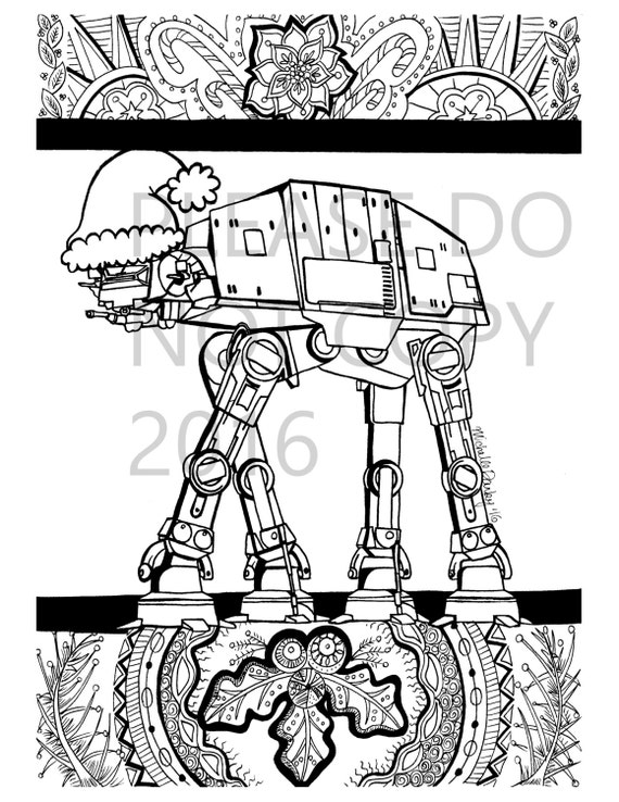 This is an image of Revered star wars christmas coloring pages