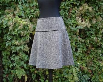 Wool winter skirt rock in three Grau Winter skirt ladies