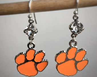 Clemson Tigers Paw Earrings.