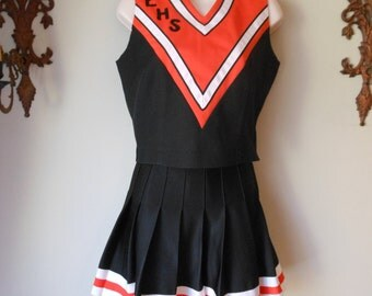 Cheerleader Costume Skirt  and Top Sm Medium