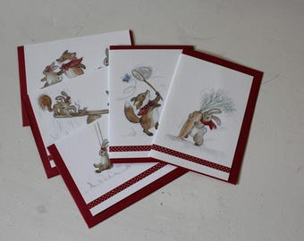 Blank Greeting Cards  - Scamps and Rascals by Leila Winslade