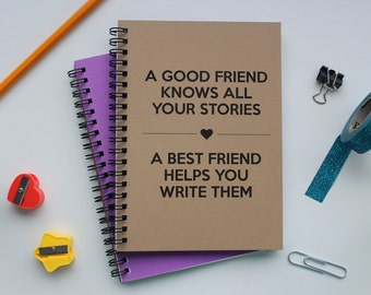 Realistic best friend contract 5 x 7 journal a good friend knows all your stories a best friend helps you write them 5 thecheapjerseys Choice Image
