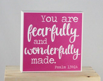 You are FEARFULLY and WONDERFULLY made - 8x8 Canvas