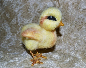 Needle Felted Chick, Easter Chick, Yellow Chick, Country Chick, Easter Decoration, Spring Chick, Spring Decoration, Baby Chick,