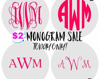 Monogram decals vinyl decal vinyl monogram decal cups windows decal vinyl monogram
