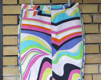 Groove is in the Heart 1990s Authentic Pucci Skirt