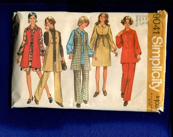 1970's Simplicity 9041 Retro Maternity Wardrobe Pattern Size 14 UNCUT