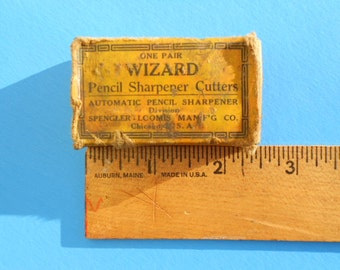 Vintage WIZARD Pencil Sharpener cutters