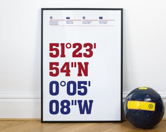 Crystal Palace Football Stadium Coordinates Posters
