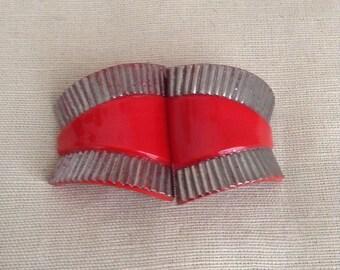 "1930's ""pâte de verre"" Belt buckle."