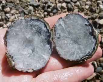 Mexican Agate Geode/Nodule Pair  (40X40X40)