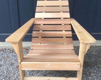 The New Hope Chair in Natural Cedar (Headrests and other colors available)