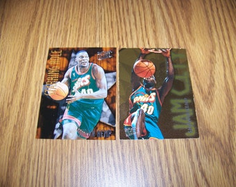2 Vintage Shawn Kemp (Seattle Supersonics) Insert Cards