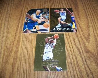 3 Vintage Jason Kidd (Dallas Maverics) Insert and Rookie Cards