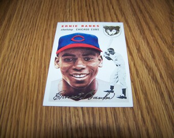 1994 Ernie Banks (Chicago Cubs) Topps Archives Gold 1954 Baseball Card #94
