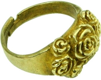 Gold Flower Ring Womens Gold Ring 51G