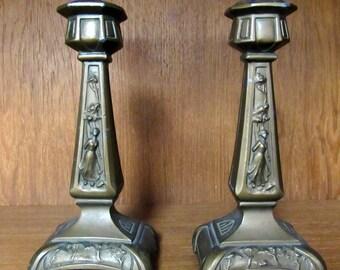 Art Nouveau Candlesticks