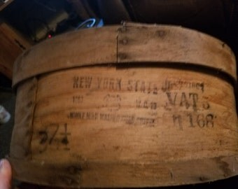 Antique Wooden NY Cheese Box