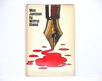 Milton Glaser Jacket Design ~ Max Jamison by Wilfrid Sheed 1970 Vintage Book