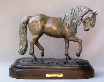 Noblest of All, Bronze Haflinger Sculpture