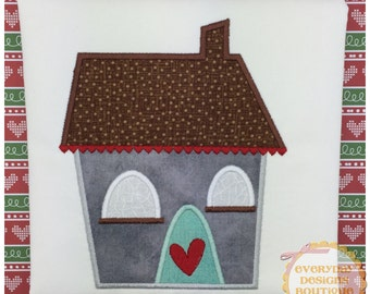 Little House One Machine Embroidery Applique Design