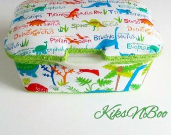 Dinosaur Nursery Wipes Case/ Dinosaur large wipes Tub/ Wet Wipes Case/ Nursery Decor/ Baby Shower Gift/ Diapers Wipes Case