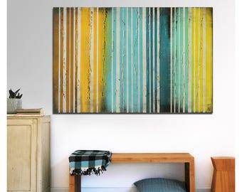 Abstract Painting, Canvas Wall art, Yellow striped i47, Original, Landscape, Abstract Painting, Modern Art,Ronald Hunter, walldecor