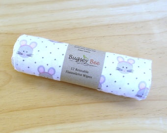 Mice Wipes Flannelette , nappy wipes, diaper wipes, kitchen wipes, reusable wipes, mouse