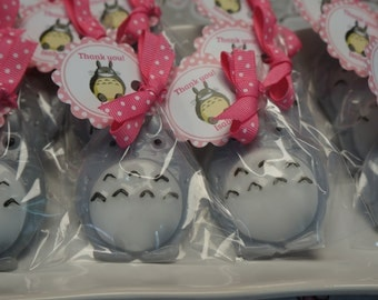 10 Totoro Soap Party Favors WITH or WITHOUT tags and ribbons.