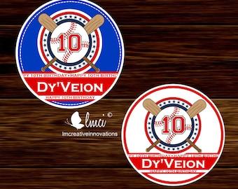 Baseball Favor Tags, Baseball Birthday Party Favors, Baseball Stickers