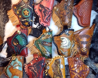 SALE***Hand Tooled Leather Sub Compact Holster