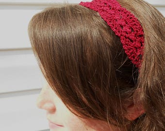 Summer Headband - Vintage Headband -  Lacy Shabby Chic Headband - Lacy Women's Headband - Crochet Headband