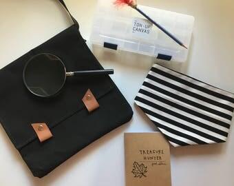 Children's Treasure Hunter Kit / Canvas Bag
